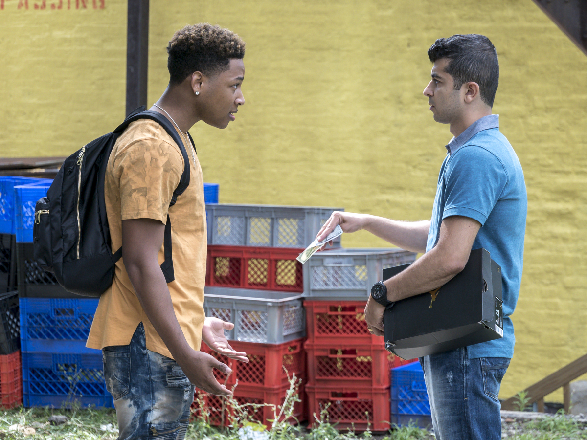 Jacob Latimore as Emmett and Behzad Dabu as Amir. (Matt Dinerstein/SHOWTIME)