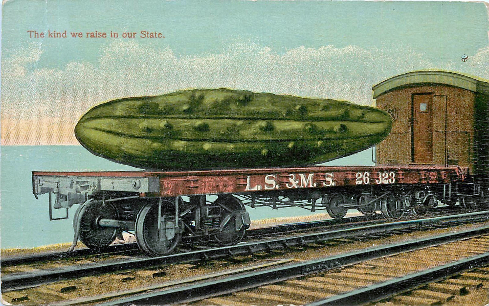 During the early 20th century, 'tall-tale' postcards were used to create the Midwest's identity as a place of agricultural abundance. (Courtesy amusingplanet.com)