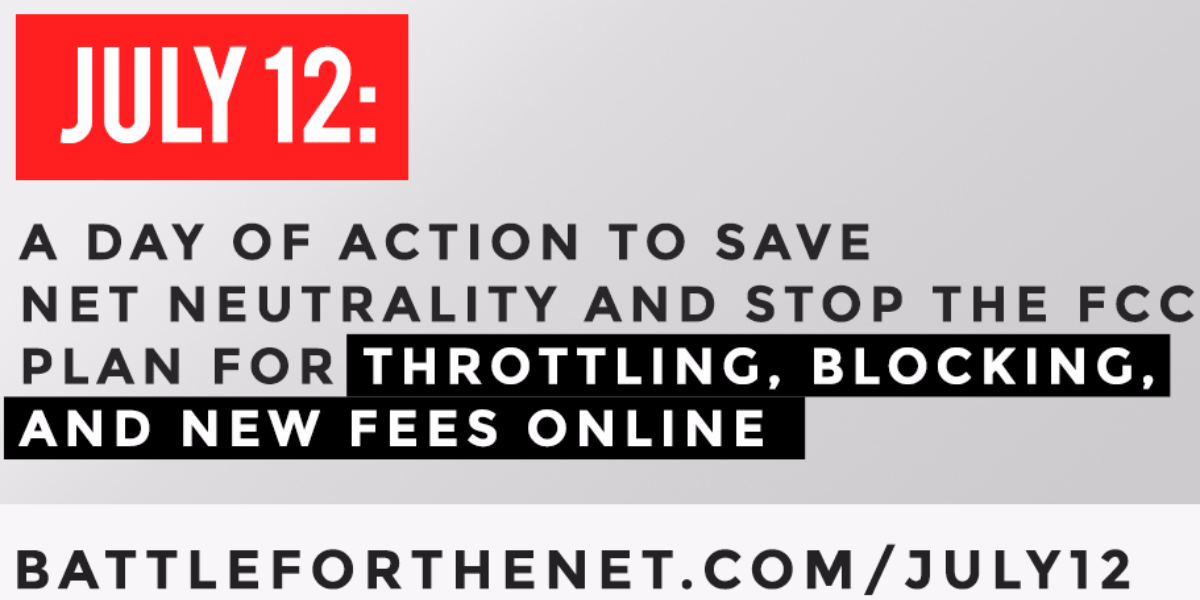 Dozens of websites are planning to feature banners like this to protest the Federal Communications Commission's proposal on net neutrality during Wednesday's 'Day of Action.' (Courtesy of Fight for the Future)