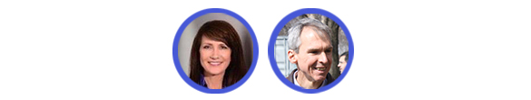 The Democratic candidates (from left): Marie Newman and U.S. Rep. Dan Lipinski. The Republican race is not contested. (Images via Facebook)