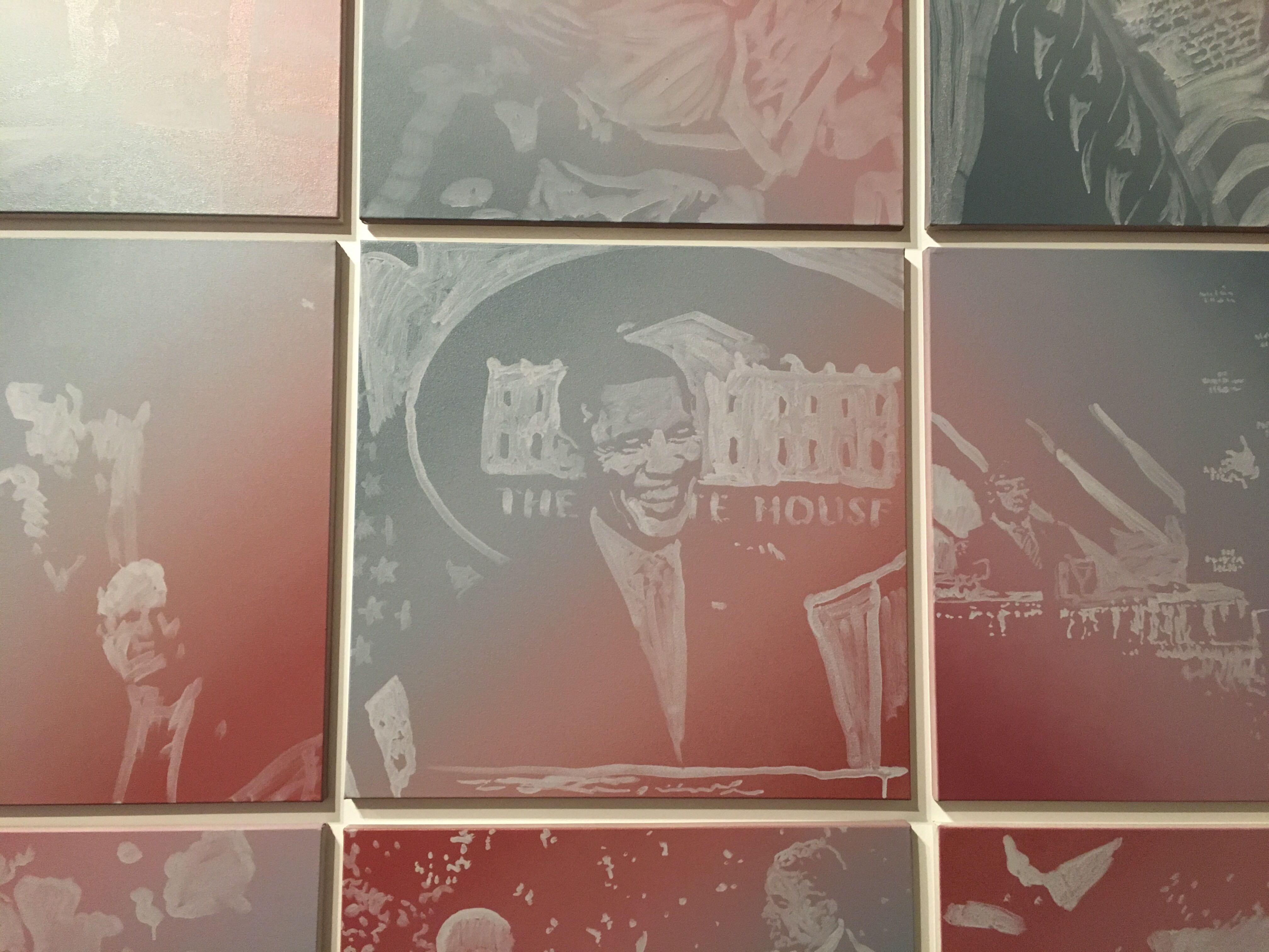 Obama Paintings exhibit