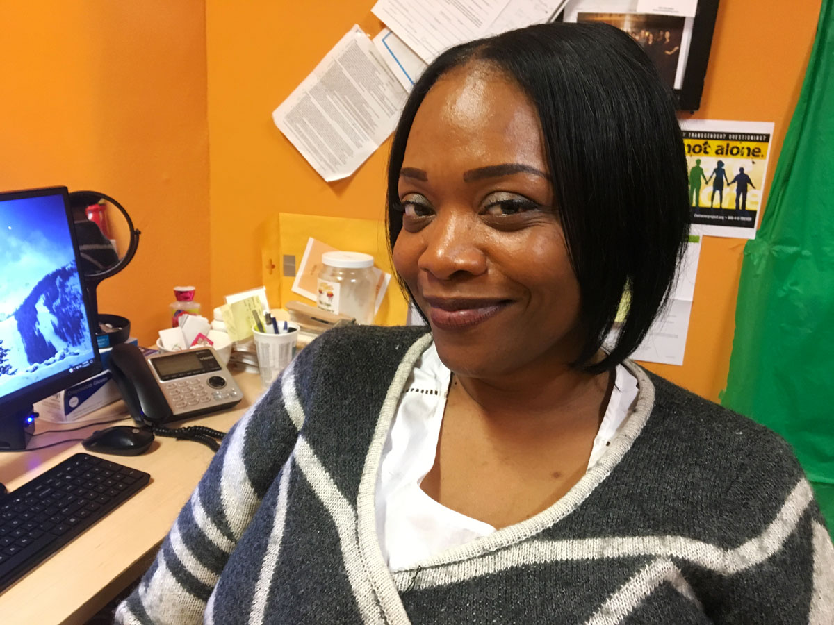 Luwana Johnson, director of interim housing at the shelter, said the motivation of staff and clients at the shelter has been high since the reopening in January. 'Things are definitely different now,' she said. (Odette Yousef/WBEZ)
