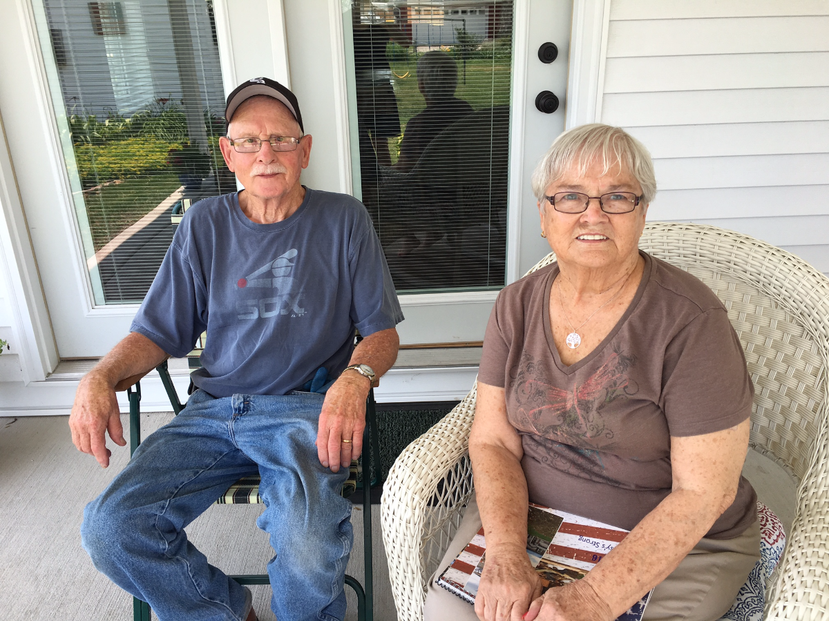 John and Suzanna Lissy will celebrate their 60th anniversary later this summer. They've spent 54 of those years at their home in Coal City. (Yolanda Perdomo/WBEZ)