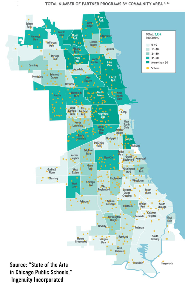 Chicago School District Map South and West side schools left behind in CPS arts plan | WBEZ